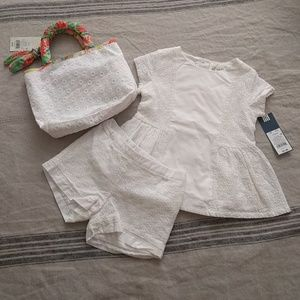 Girls Top & bottom set with bag